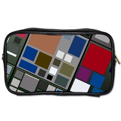 Abstract Composition Toiletries Bags 2 Side