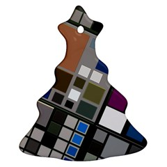 Abstract Composition Christmas Tree Ornament (two Sides)