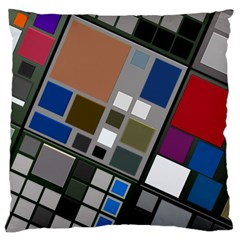 Abstract Composition Large Cushion Case (one Side)