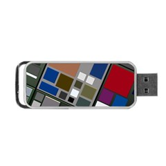 Abstract Composition Portable Usb Flash (two Sides)