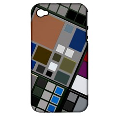 Abstract Composition Apple Iphone 4/4s Hardshell Case (pc+silicone)