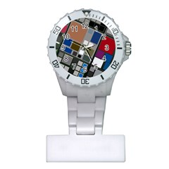 Abstract Composition Plastic Nurses Watch