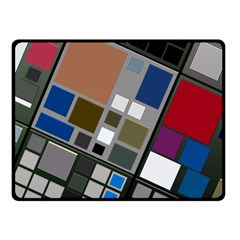 Abstract Composition Double Sided Fleece Blanket (small)