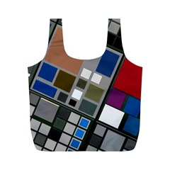 Abstract Composition Full Print Recycle Bags (m)