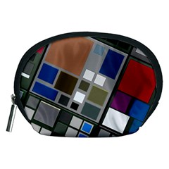 Abstract Composition Accessory Pouches (medium)