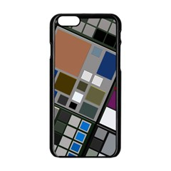 Abstract Composition Apple Iphone 6/6s Black Enamel Case