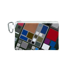 Abstract Composition Canvas Cosmetic Bag (s)