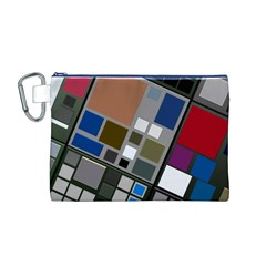 Abstract Composition Canvas Cosmetic Bag (m)