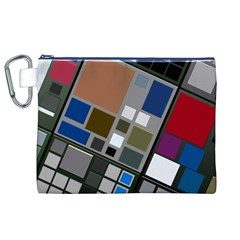 Abstract Composition Canvas Cosmetic Bag (xl)