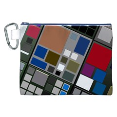 Abstract Composition Canvas Cosmetic Bag (xxl)