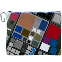 Abstract Composition Canvas Cosmetic Bag (xxxl)