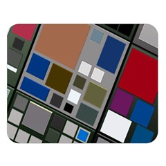 Abstract Composition Double Sided Flano Blanket (large)