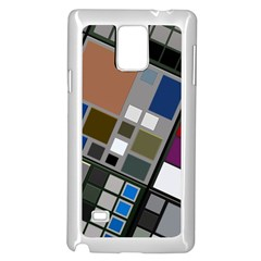 Abstract Composition Samsung Galaxy Note 4 Case (white)