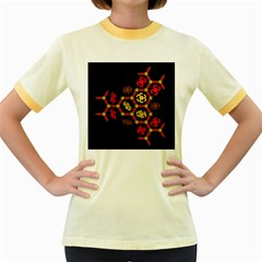 Algorithmic Drawings Women s Fitted Ringer T Shirts
