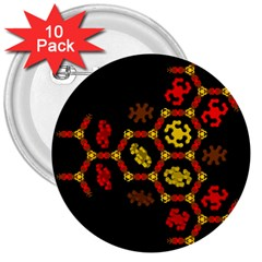 Algorithmic Drawings 3  Buttons (10 Pack)
