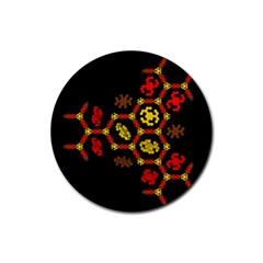 Algorithmic Drawings Rubber Coaster (round)