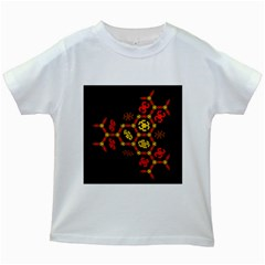 Algorithmic Drawings Kids White T Shirts