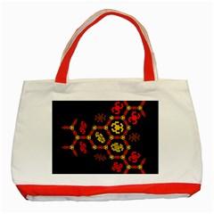 Algorithmic Drawings Classic Tote Bag (red)
