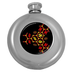 Algorithmic Drawings Round Hip Flask (5 Oz)