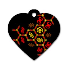 Algorithmic Drawings Dog Tag Heart (one Side)