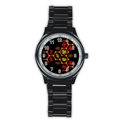 Algorithmic Drawings Stainless Steel Round Watch