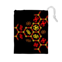 Algorithmic Drawings Drawstring Pouches (large)