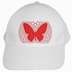 Butterfly White Cap