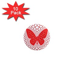 Butterfly 1  Mini Magnet (10 Pack)