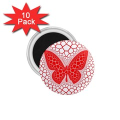 Butterfly 1 75  Magnets (10 Pack)