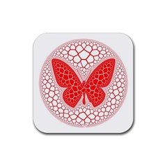 Butterfly Rubber Coaster (square)