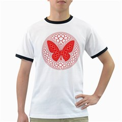 Butterfly Ringer T Shirts