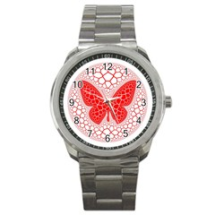 Butterfly Sport Metal Watch