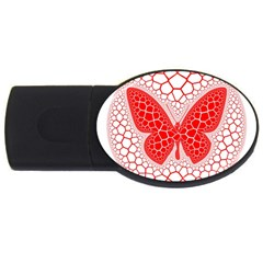 Butterfly Usb Flash Drive Oval (4 Gb)
