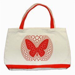 Butterfly Classic Tote Bag (red)