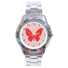 Butterfly Stainless Steel Analogue Watch