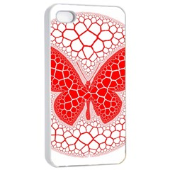 Butterfly Apple Iphone 4/4s Seamless Case (white)