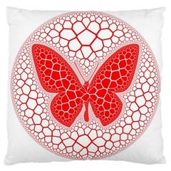 Butterfly Large Cushion Case (two Sides)