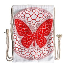 Butterfly Drawstring Bag (large)