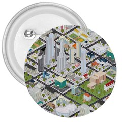 Simple Map Of The City 3  Buttons