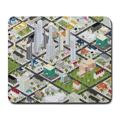 Simple Map Of The City Large Mousepads
