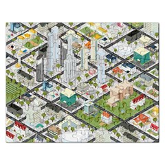 Simple Map Of The City Rectangular Jigsaw Puzzl
