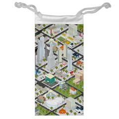 Simple Map Of The City Jewelry Bag