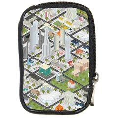Simple Map Of The City Compact Camera Cases