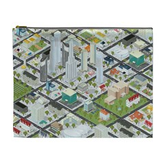Simple Map Of The City Cosmetic Bag (xl)