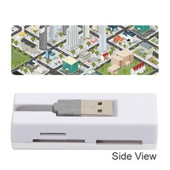 Simple Map Of The City Memory Card Reader (stick)