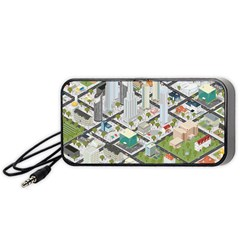 Simple Map Of The City Portable Speaker (black)