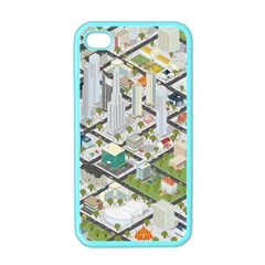 Simple Map Of The City Apple Iphone 4 Case (color)