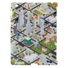 Simple Map Of The City Apple Ipad 3/4 Hardshell Case (compatible With Smart Cover)