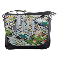 Simple Map Of The City Messenger Bags