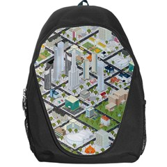 Simple Map Of The City Backpack Bag